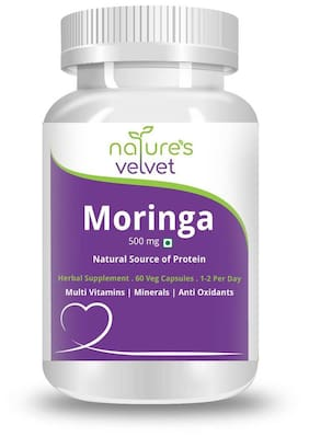 Natures Velvet Lifecare Moringa Leaf Extract 500Mg 60 Capsules