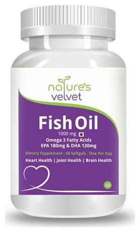 Natures Velvet Lifecare Fish Oil Omega-3 60 Softgels
