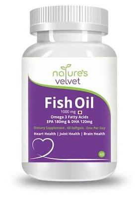 Natures Velvet Lifecare Fish Oil Omega-3 60 Softgels