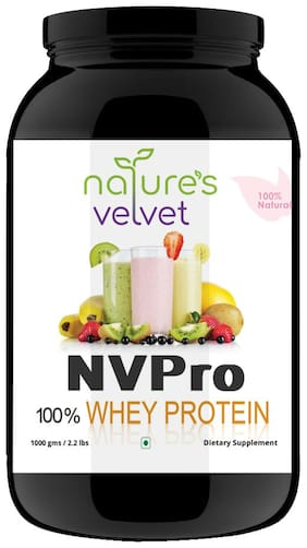 Natures Velvet Lifecare;NVPRO;100% Whey Protein;1000gms;Natural and Vegetarian - Pack of 1
