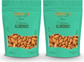 Naturoz Popular California Almonds 1Kg (Pack of 2)