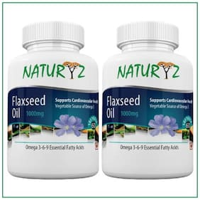 Naturyz Flaxseed Oil 1000 mg 60 Capsules Each Pack of 2