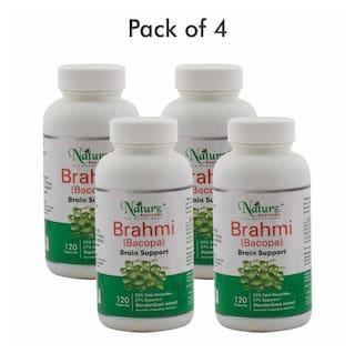 Naturz Ayurveda Bacopa (Brahmi) 120 Capsules - Pack Of 4