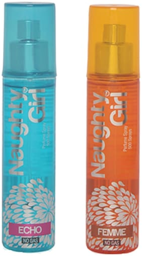 Naughty Girl ECHO & FEMME No Gas Perfume Spray for Women (Pack of 2) (60ml each)