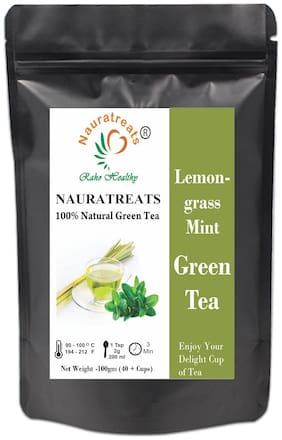 Nauratreats Raho Healthy Lemongrass Mint Green Tea Pouch (100 g)