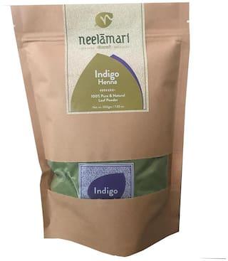 Neelamari 100% Natural Indigo With Henna Powder (100 g + 100 g)