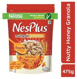 NesPlus Granola - Multigrain, Breakfast Cereals, Nutty Honey 475 gm