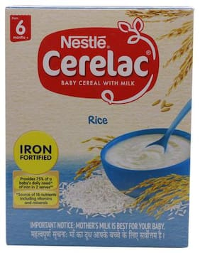 Nestle  Cerelac Fortified Baby Cereal With Milk, Rice - From 6 Months 300 g