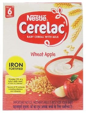Nestle Cerelac With Milk & Wheat Apple  From 6 Months 300 g