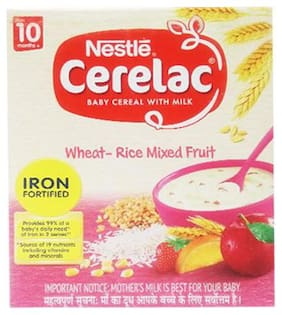 Nestle Cerelac With Milk & Wheatrice Mixed Fruit  From 10 Months 300 g