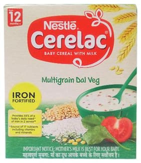 Nestle Cerelac With Milk & Multigrain Dal Veg  From 12 Months  300 g