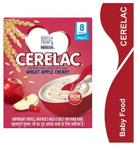 Nestle Cerelac With Milk & Wheat Apple Cherry  From 8 Months 300 g