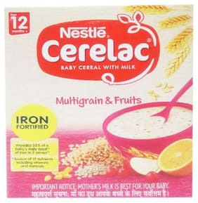 Nestle Cerelac With Milk  Multigrain & Fruits  From 12 Months 300 g