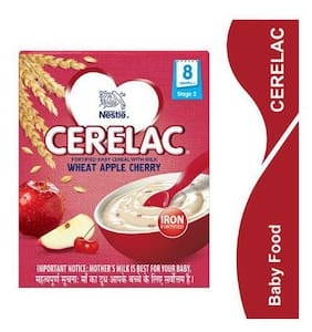 Nestle Cerelac With Milk & Wheat Apple Cherry  From 8 Months 300 Gm