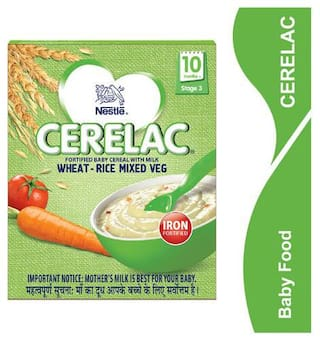 Nestle Cerelac With Milk & Wheatrice Mixed Veg  From 10 Months 300 g