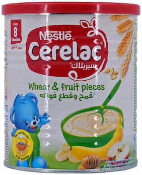 Nestle Cerelac Wheat & Fruit Pieces  400g (Imported)