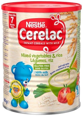 Nestle Cerelac Mixed Vegetables & Rice With Milk - 400g (Imported)