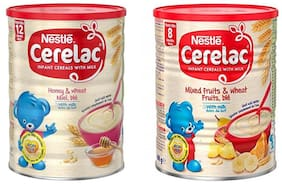 Nestle Cerelac Combo 400g Each (Mixed Fruits Honey & Wheat) (Pack Of 2)