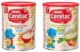 Nestle Cerelac Combo 400g (Pack of 2) Mixed Fruits + Mixed Vegetables & Rice