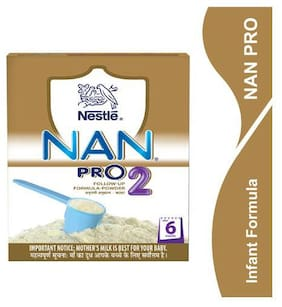 Nestle Nan Pro 2 Follow Up Infant Formula Powder  After 6 Months 400 Gm