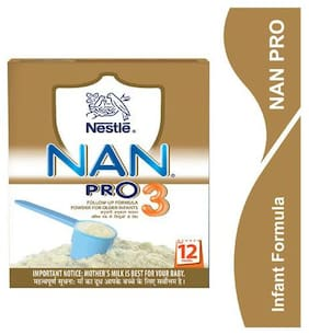 Nestle Nan Pro 3 Follow Up Infant Formula Powder  After 12 Months 400 g