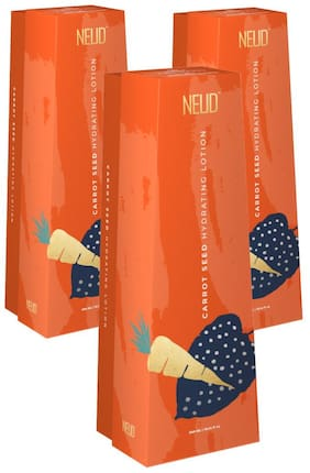 NEUD Carrot Seed Premium Hydrating Lotion for Men & Women -300ml (Pack of 3)