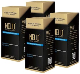 NEUD Natural Hair Inhibitor for Men & Women 80gm (Pack of 4)