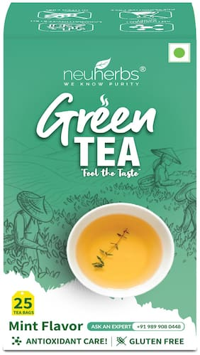 Neuherbs Green Tea for Weight Management with Mint Flavour (25 Tea Bags)