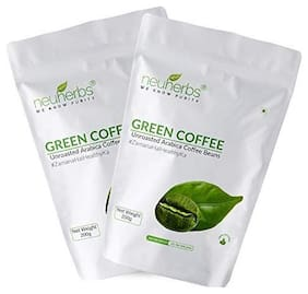 Neuherbs Green Coffee Beans for Weight loss Management : 200 G  Pack of 2