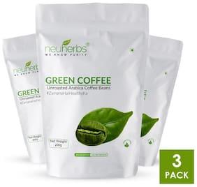 Neuherbs Green Coffee Beans 200g (Pack of 3 )