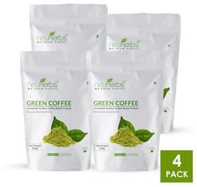 Neuherbs Organic Green coffee beans powder 200G(Pack Of 4)