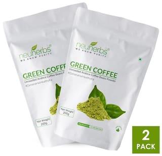 Neuherbs Organic Green coffee beans powder 200G(Pack Of 2)