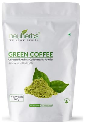 Neuherbs Organic Green coffee beans powder 200G(Pack Of 1)