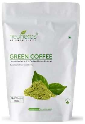 Neuherbs Green Coffee Beans Powder 800G(Pack Of 1)