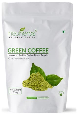 Neuherbs Organic Green coffee beans powder 350G(Pack Of 1)