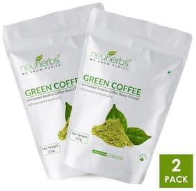 Neuherbs Organic Green coffee beans powder 350G(Pack Of 2)