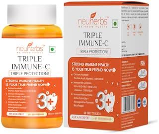 Neuherbs Triple Immune - C Plus (Vitamin - C Supplements)  Immune Booster for adults- 60 Tablets