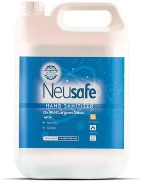 Neusafe Alcohol Based Germ Protection Liquid Hand Sanitizer (Lemon Flavour) 2 L