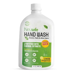 Neusafe Total Germ Protection Liquid Hand Wash Refill Pack With Power Of Neem & Tulsi Extract- 900ml (Pack Of 1)