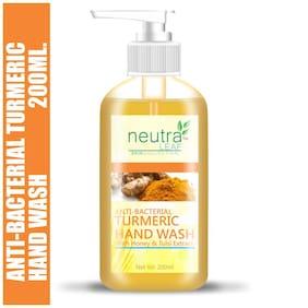 Neutra Leaf Gentle Liquid Anti-Bacterial Turmeric Hand Wash Kills 99% Germs Triclosan Free Hand Wash 200ml (Pack of 1)