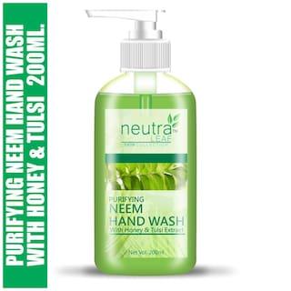 Neutra Leaf Gentle Liquid Purifying Neem Hand Wash Kills 99% Germs Triclosan Free Hand Wash 200ml (Pack of 1)