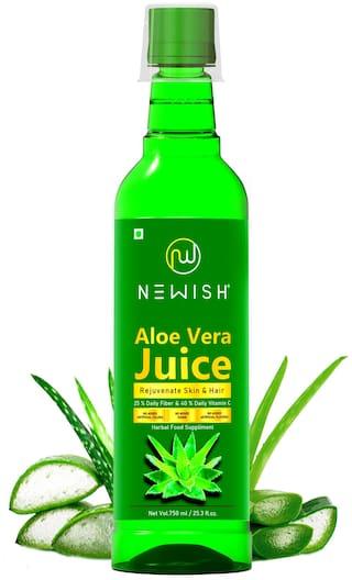 Newish Aloe Vera Juice Organic for Drinking 750 ml