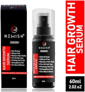 Newish Hair Growth Serum for Damaged Hair, Straightening and Hair Restore for Men and Women, 60 ml