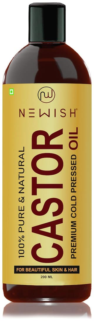 Newish Organic Cold Pressed Castor Oil for Hair and Skin 200ml