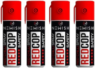 Newish : Powerful Red Chilli Spray Self Defence for Women Pack of 4 (35 ml each)