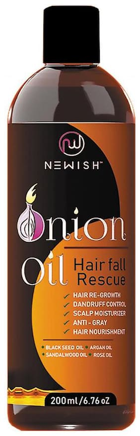 Newish Red Onion Oil for Hair Regrowth Men & Women Essential Oil Nourishing Hair Fall Treatment & Control Dandruff 99.9% Success Ratio 200ml