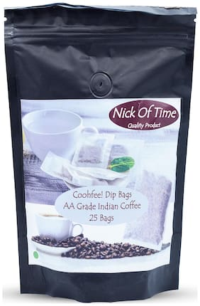 Nick of Time Coohfee Indian Filter Coffee Dip Bags (Pack of 25)