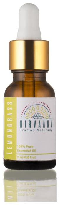 Nirvaana 100% Pure & Natural Lemongrass Essential Oil - Therapeutic Grade 15 ml (Pack of 1)