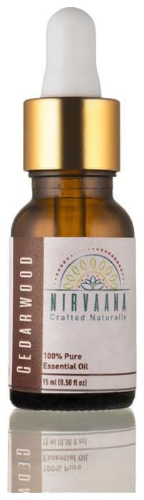 Nirvaana 100% Pure & Natural Cedarwood Essential Oil - Therapeutic Grade 15 ml (Pack of 1)