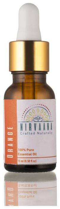 Nirvaana 100% Pure & Natural Orange Essential Oil - Therapeutic Grade 15 ml (Pack of 1)